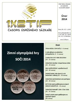 Časopis 1x2tip - ÚNOR 2014